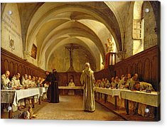 The Refectory Acrylic Print by Theophile Gide