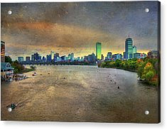 Acrylic Print featuring the photograph The Regatta - Head Of The Charles - Boston by Joann Vitali