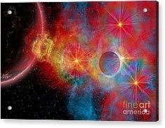 The Remains Of A Supernova Give Birth Acrylic Print by Mark Stevenson