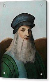 The Master Of Renaissance - Leonardo Da Vinci  Acrylic Print