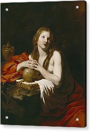 The Repentant Magdalene Acrylic Print by Nicolas Regnier