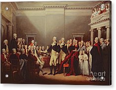 The Resignation Of George Washington Acrylic Print by John Trumbull