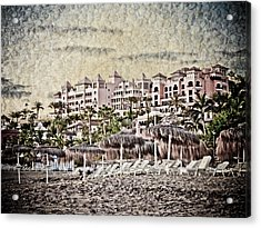 The Resort Beach Acrylic Print by Loriental Photography