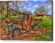 The Resting Place 2 Boswell Farm 1947 Dodge Dump Truck Acrylic Print