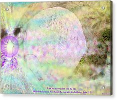 Acrylic Print featuring the photograph The Resurrection Horizon Event-no Rock Could Hold Him In Garden Tomb Vision Jerusalem 2008 by Anastasia Savage Ealy