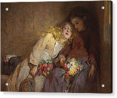 The Return Home Acrylic Print by George Elgar Hicks