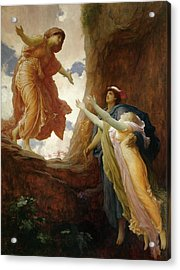 The Return Of Persephone Acrylic Print by Frederic Leighton