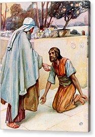 The Return Of The Prodigal Son Acrylic Print by Arthur A Dixon