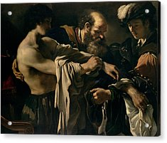 The Return Of The Prodigal Son Acrylic Print by Giovanni Francesco Barbieri