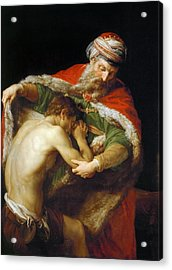 Acrylic Print featuring the painting The Return Of The Prodigal Son by Pompeo Batoni