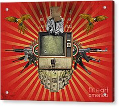 The Revolution Will Not Be Televised Acrylic Print by Rob Snow