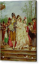 The Revolutionist's Bride, Paris, 1799 Acrylic Print by Frederik Hendrik Kaemmerer