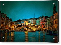 The Rialto Bridge Acrylic Print