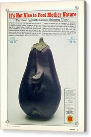 The Richard Nixon Eggplant Acrylic Print