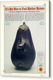 The Richard Nixon Eggplant Acrylic Print