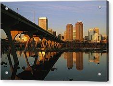 The Richmond, Virginia Skyline Acrylic Print by Medford Taylor