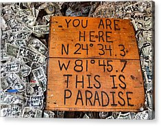 The Right Coordinates Acrylic Print by JAMART Photography