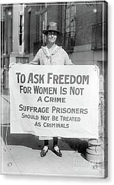 The Right To Vote 1917 Acrylic Print by Edward Fielding
