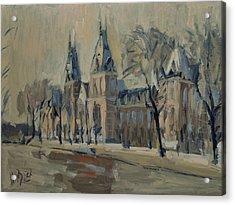 The Rijksmuseum After The Rain Acrylic Print