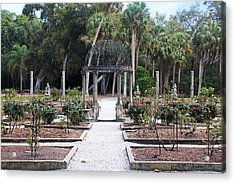 The Ringling Rose Garden Acrylic Print