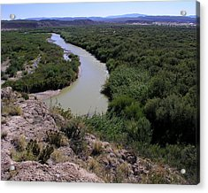 The Rio Grande River Acrylic Print by Karen Musick