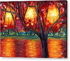 The Rise Of Fall Acrylic Print by Jessilyn Park