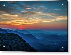 The Rising Sun Pretty Place Chapel Greenville S C Great Smoky Mountain Art Acrylic Print