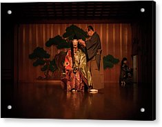 The Ritual Of The Costume In Noh Traditional Theater. Acrylic Print