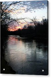 The River At Sunset Acrylic Print