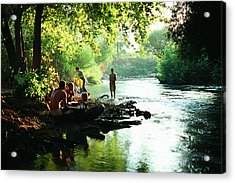 Acrylic Print featuring the photograph The River by Dubi Roman