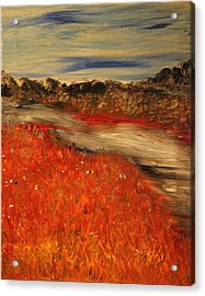 Acrylic Print featuring the painting The River by Evelina Popilian