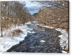 The River In Winter Acrylic Print by Tricia Marchlik
