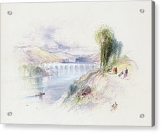 The River Schuykill Acrylic Print by Thomas Moran