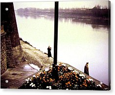 The River Seine 1955 Acrylic Print by Will Borden