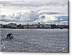 The River The Sky And Is A Little City Acrylic Print by Vadim Grabbe