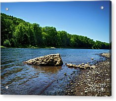 The River's Edge Acrylic Print by Mark Miller