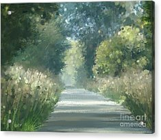 Acrylic Print featuring the pastel The Road Back Home by Ivana Westin
