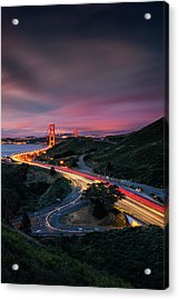 The Road In... San Francisco Acrylic Print by Vincent James