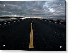The Road Acrylic Print by Justin Johnson