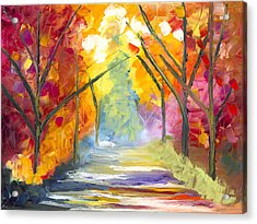 The Road Less Traveled Acrylic Print by Jessilyn Park