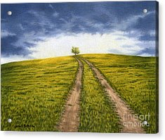 The Road Less Traveled Acrylic Print by Sarah Batalka