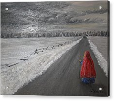 The Road That Must Be Traveled Acrylic Print by L A Raven