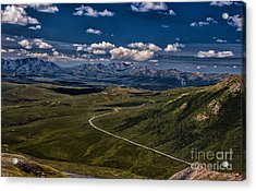 The Road To Denali Acrylic Print by Dennis Wagner