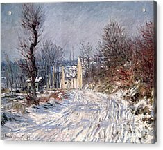 The Road To Giverny In Winter Acrylic Print