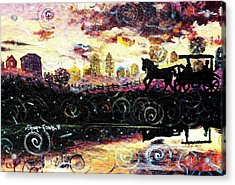 Acrylic Print featuring the painting The Road To Home by Shana Rowe Jackson