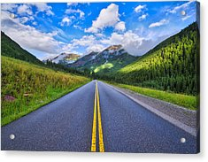 Acrylic Print featuring the photograph The Road To Maroon Lake by Photography By Sai