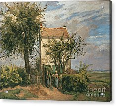 The Road To Rueil Acrylic Print by Camille Pissarro