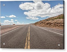 Acrylic Print featuring the photograph The Road Up Pikes Peak At Around 12,000 Feet by Peter Ciro