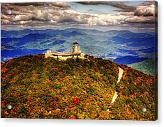 The Road Up To Brasstown Bald Acrylic Print