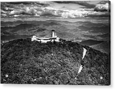 The Road Up To Brasstown Bald In Black And White Acrylic Print